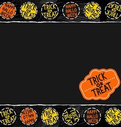 Halloween document template vector