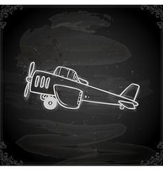 Hand Drawn Light Aircraft vector