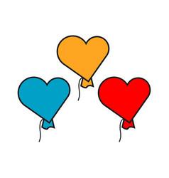 Heart balloon template design vector