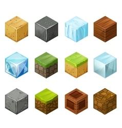 Isometric Cubes Big Set elements nature vector