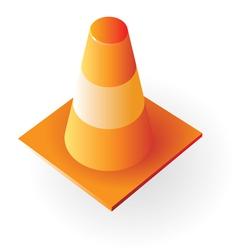 Isometric icon traffic cone vector
