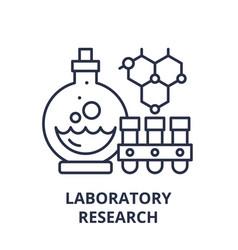 laboratory research line icon concept laboratory vector image
