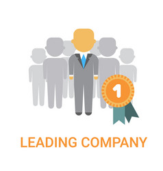 Leading company manager icon business boss leader vector