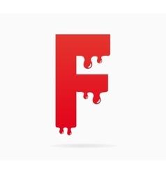 Letter F logo or symbol icon vector image