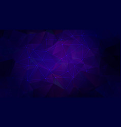 low poly triangles in dark ultramarine with stars vector image