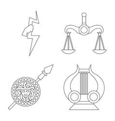 Mythology and god logo vector
