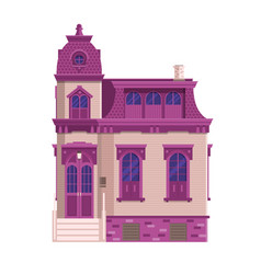 Old victorian mansion building vector