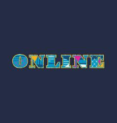 Online concept word art vector