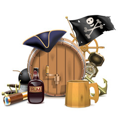 Pirate Bar Concept vector image