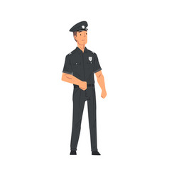 police officer policeman character in uniform vector image