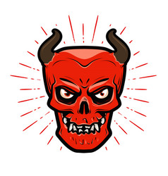 portrait of angry devil halloween satan lucifer vector image