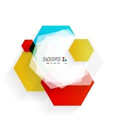 Rainbow hexagons modern design template vector