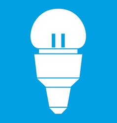 Reflector bulb icon white vector