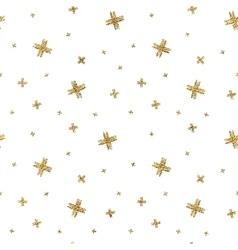 seamless pattern gold glitter crosses vector image