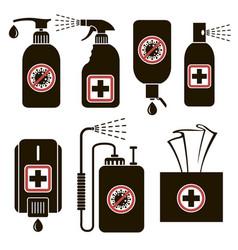 Set disinfectants vector