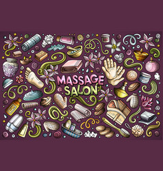 set massage and spa objects vector image