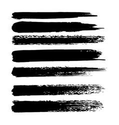 set of grunge brush strokes oil brushes vector image