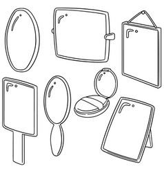 set of mirror vector image