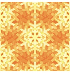 Shiny gold light snowflakes pattern for vector
