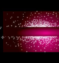 star banner vector image