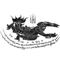 Thai yantra thai tattoo vector