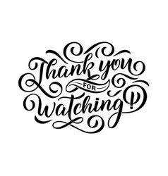Thank you for watching cover banner template for vector