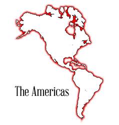 The americas vector