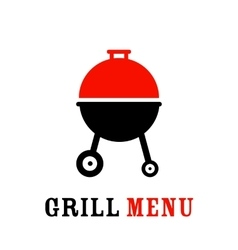 The grill icon vector