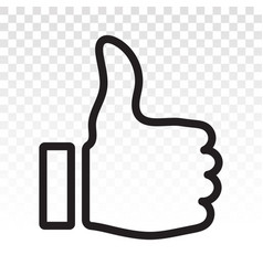 Thumbs up flat icon for apps and websites vector
