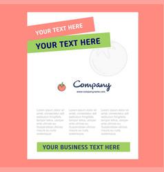 tomato title page design for company profile vector image