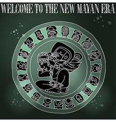 Welcome new Mayan era vector image