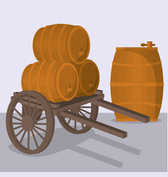 Wine barrel design vector
