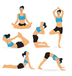 Woman Performing Yoga vector