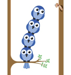 bird teamwork vector image vector image