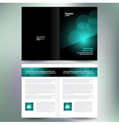 booklet catalog brochure folder bokeh abstract vector image vector image