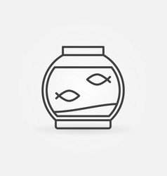 fish bowl linear icon vector image vector image