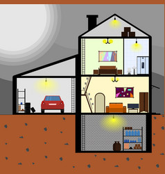 house with internal layout vector image