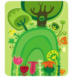 magical forest vector image vector image