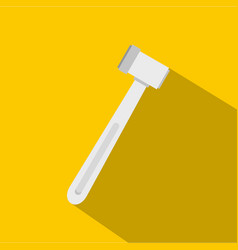 medical hammer icon flat style vector image