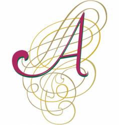 script letter a vector image vector image