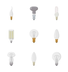 Types of lamps icons set cartoon style vector image vector image