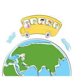 world tour vector image
