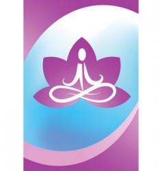 yoga lotus logo vector image vector image