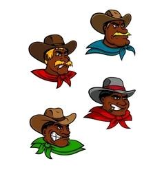 Cartoon western cowboys and sheriffs vector image vector image