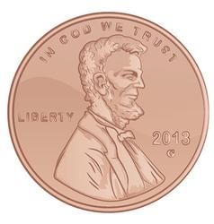 Penny Cartoon vector image vector image