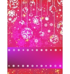 Pink Christmas Background EPS 8 vector image vector image
