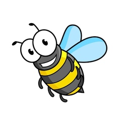 Cartoon bee or wasp character vector image