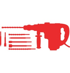 Electric Hammer with Drills vector image vector image