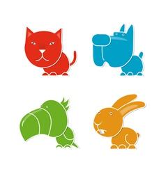 Four pets vector image