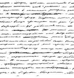 Handwriting Seamless background vector image